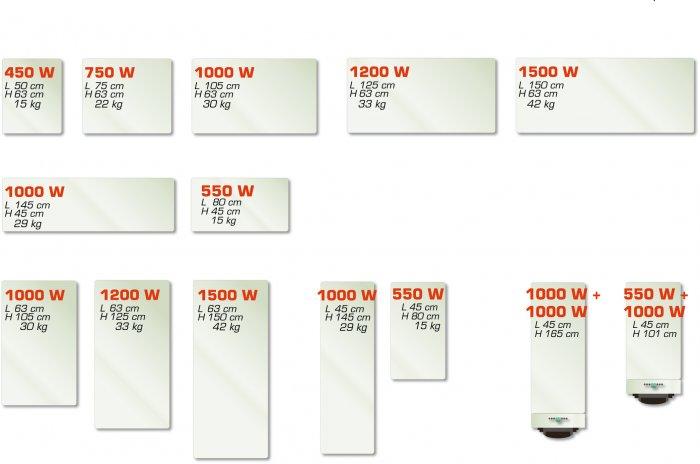 radiateur electrique largeur 30 cm
