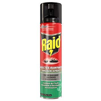 raid fourmis araignées cafards