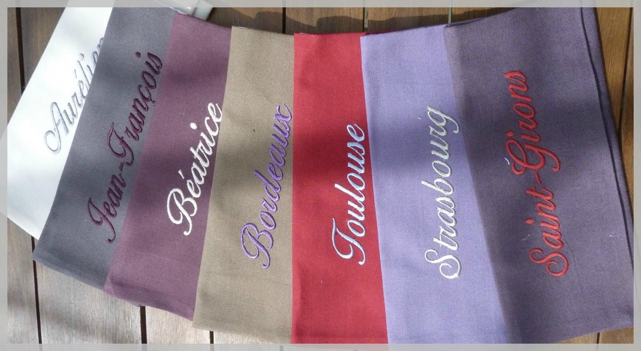 range serviette de table en tissu