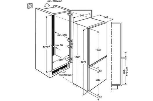 refrigerateur encastrable dimensions