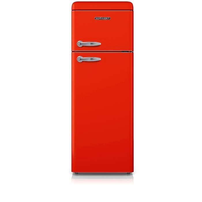 refrigerateur vintage rouge
