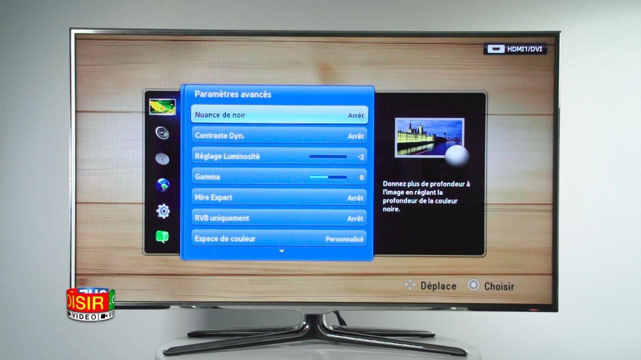 reglage couleur tv samsung