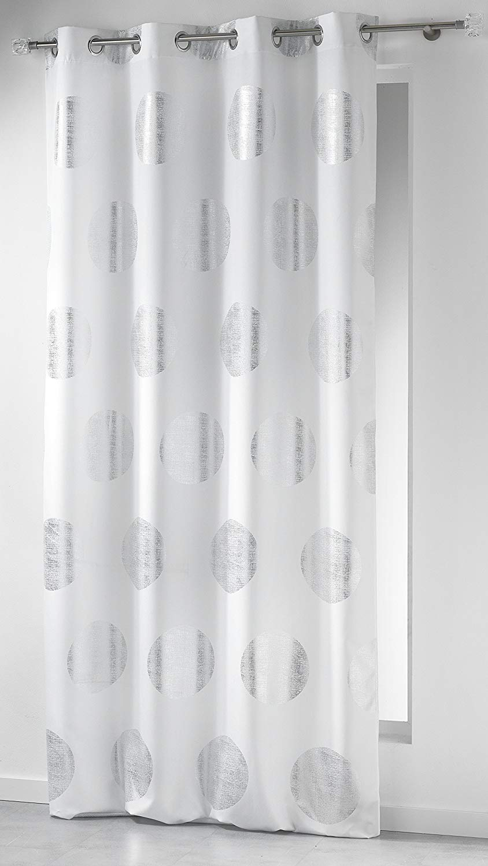 rideau blanc argenté