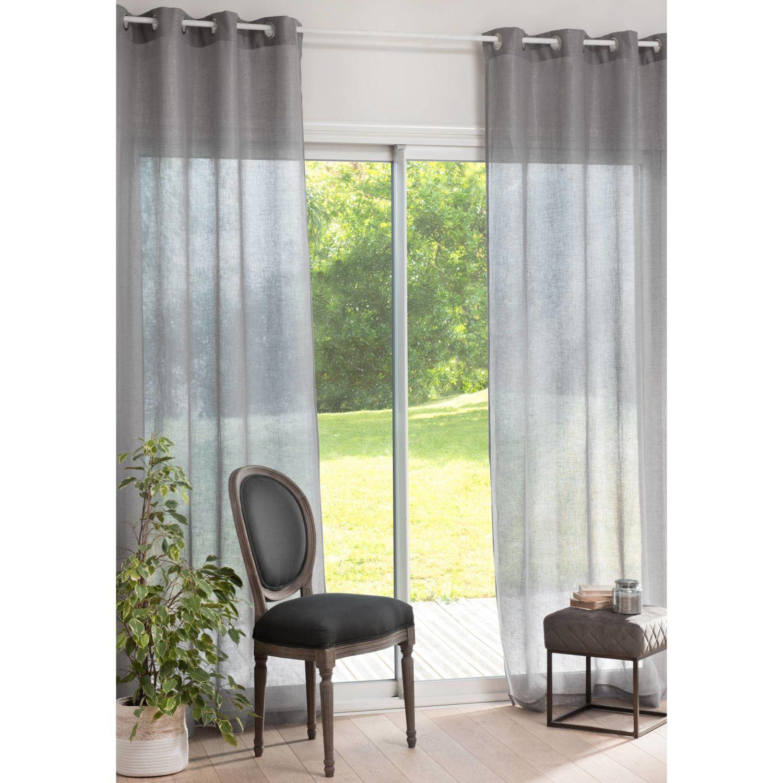 rideau gris pailleté