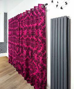 rideau rose et noir