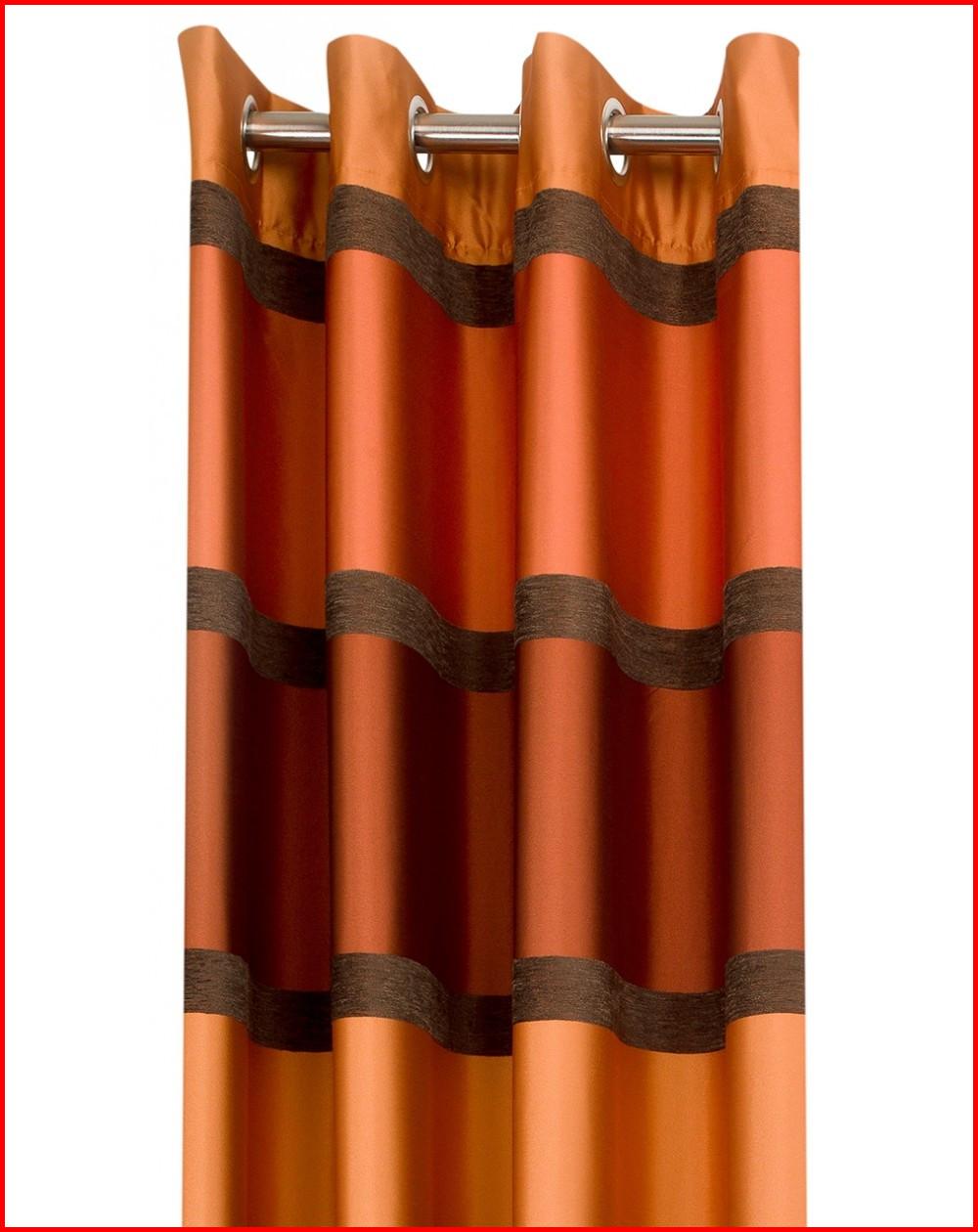rideaux orange et marron