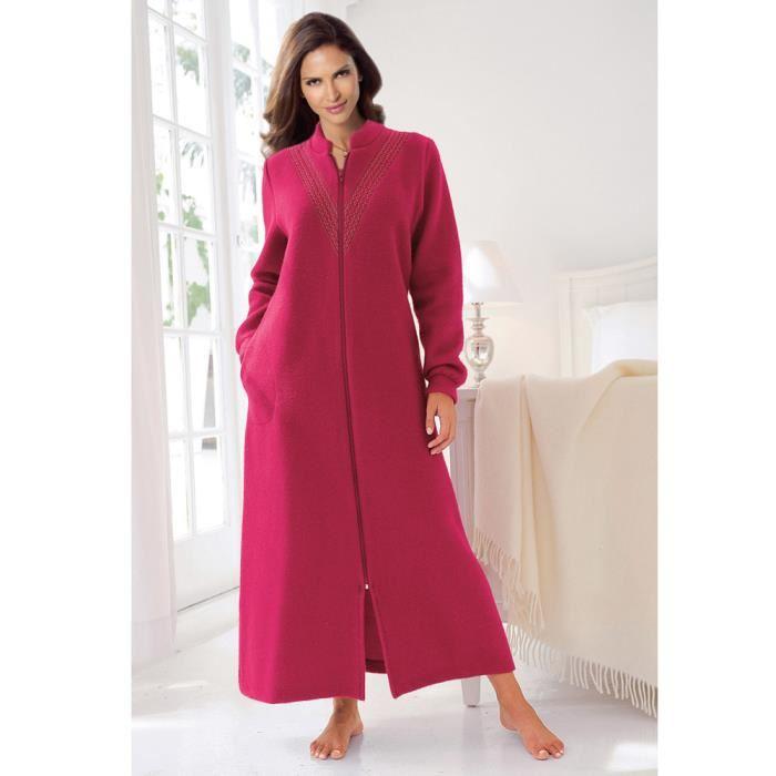 robe de chambre femme polaire longue