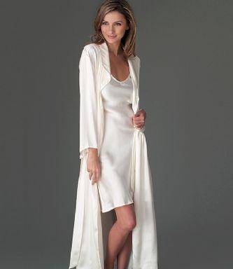 robe de chambre satin longue femme