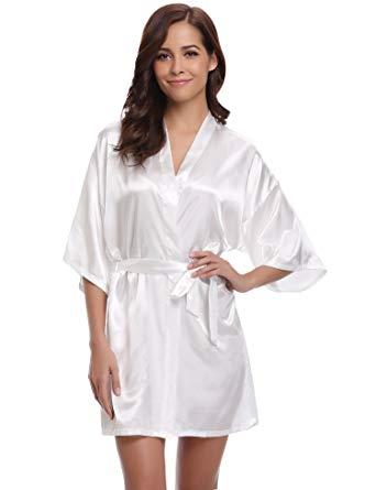 robe de chambre satin