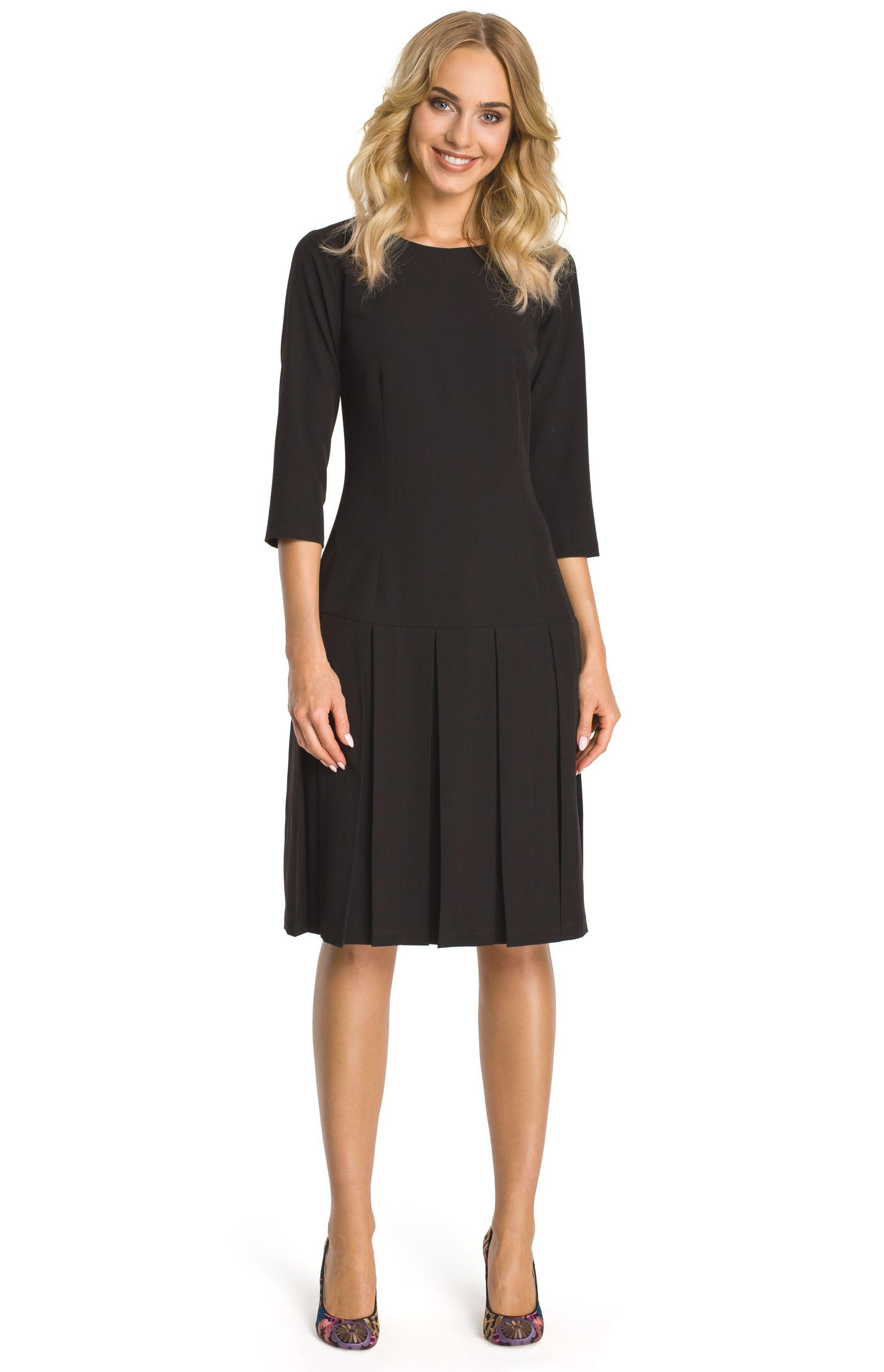 robe noir manche 3/4