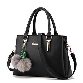sac a main noir cuir