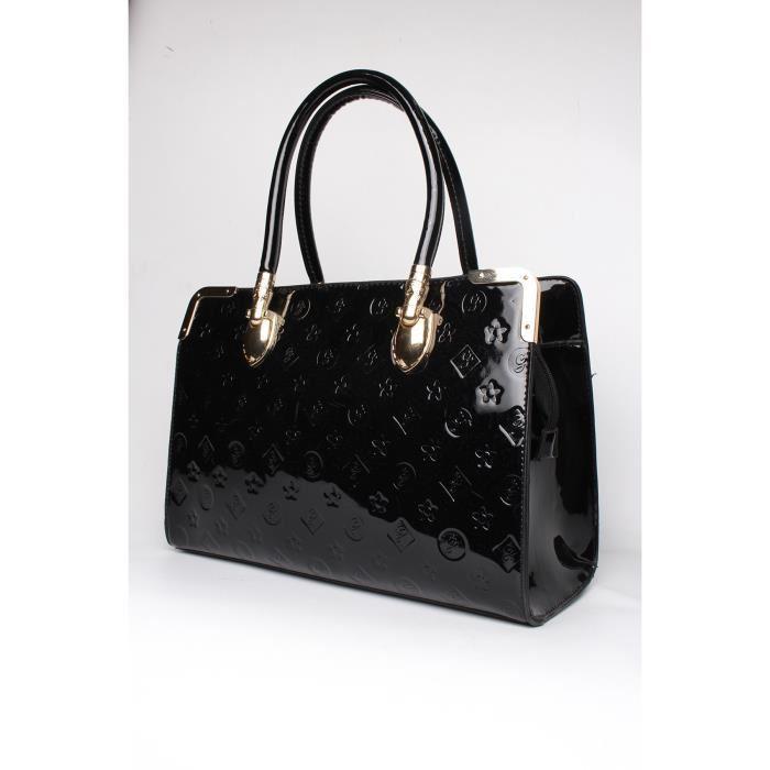 sac a main vernis noir