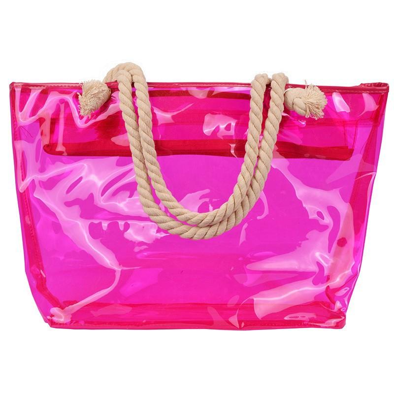 sac de plage transparent pas cher