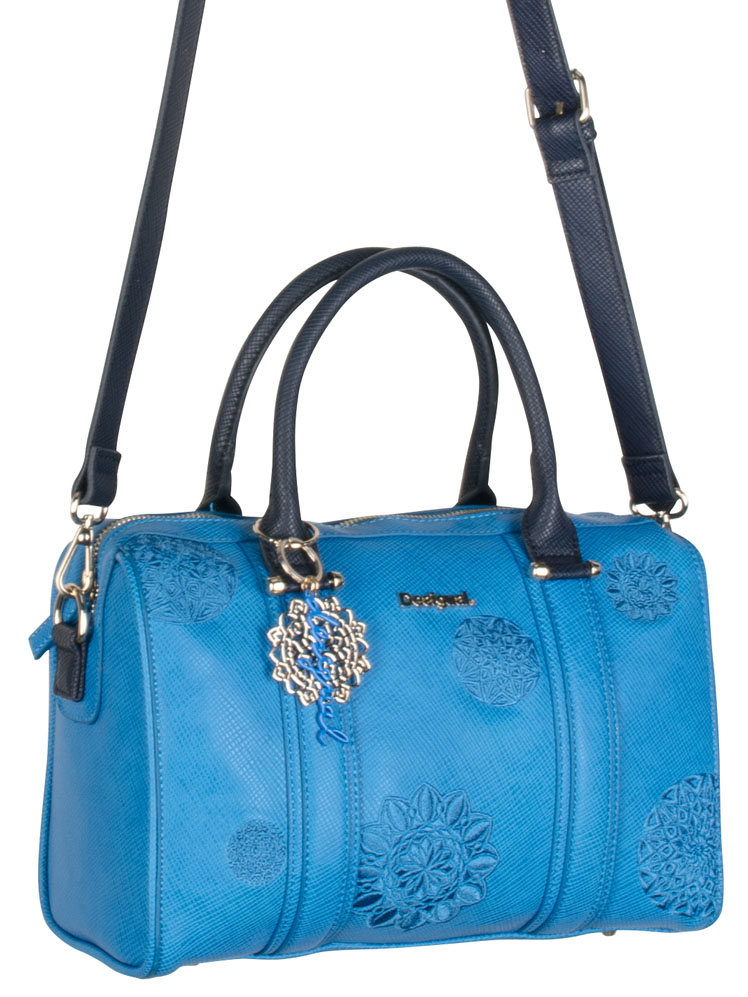 sac desigual bleu turquoise
