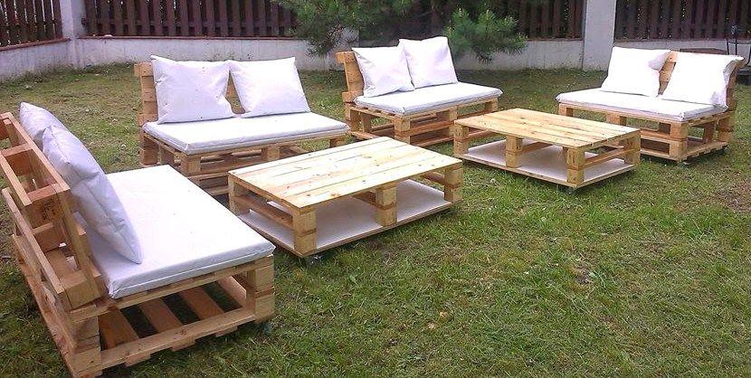 salon de jardin palette bois