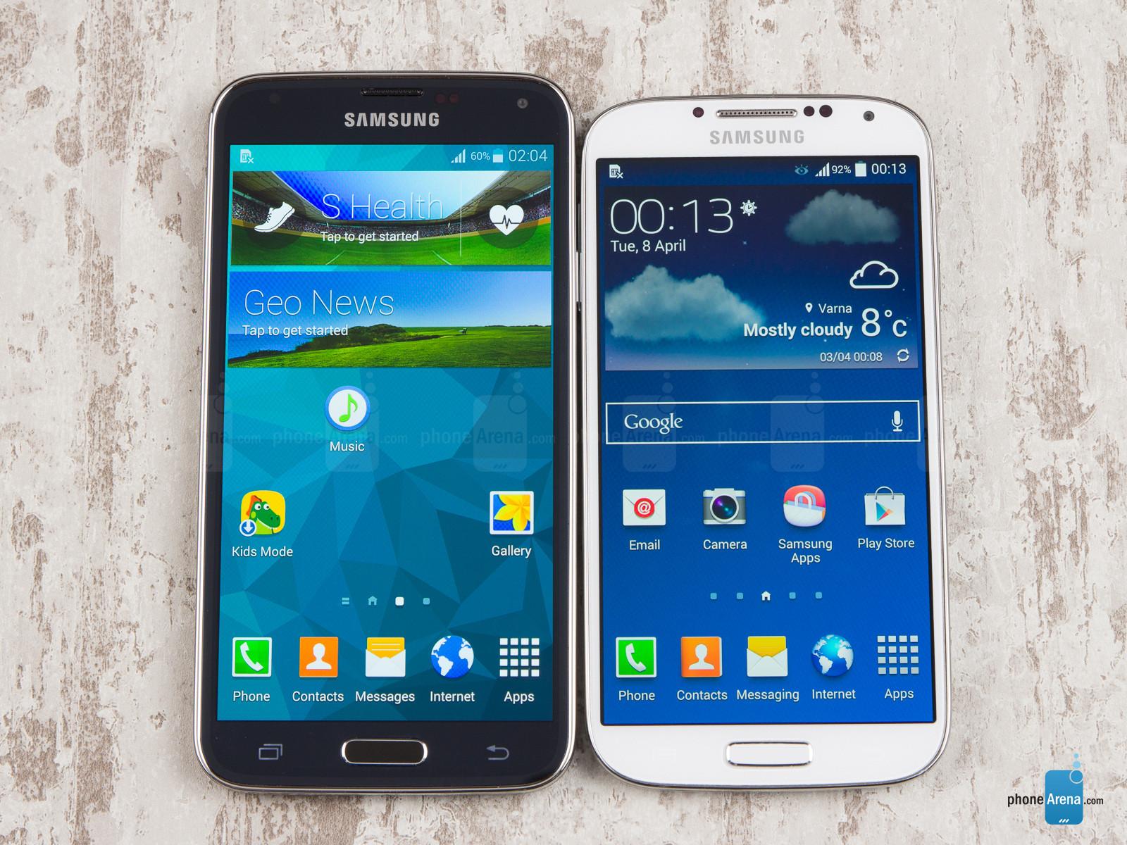 samsung galaxy s4 et s5