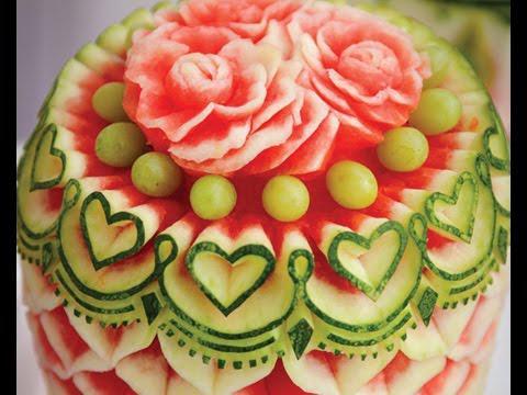 sculpture sur fruits et légumes facile