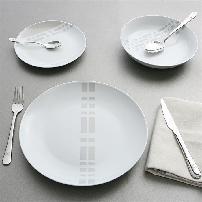 service 18 pièces assiettes