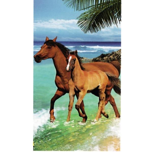 serviette de bain cheval