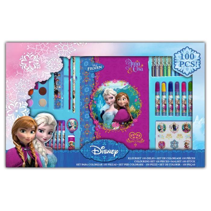 set de coloriage la reine des neiges