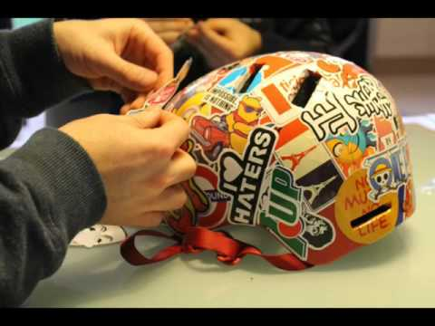 stickers casque roller