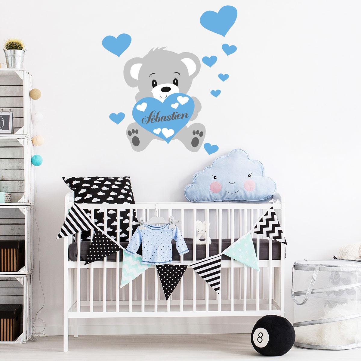 stickers chambre bébé prenom