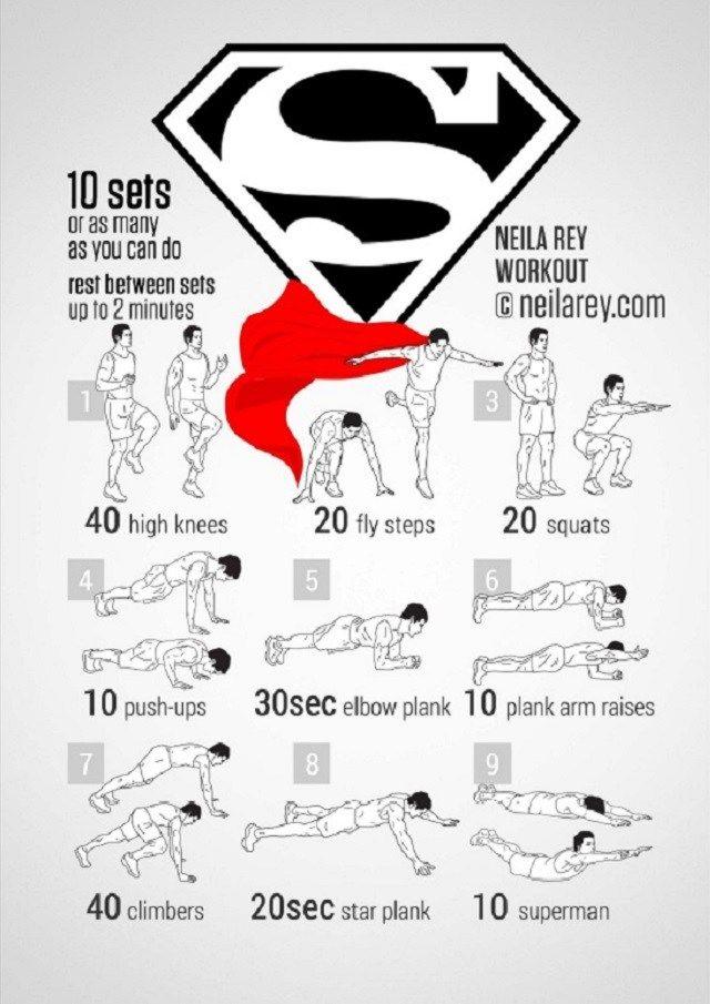 superman musculation
