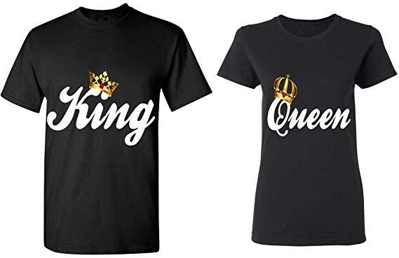 t shirt king queen