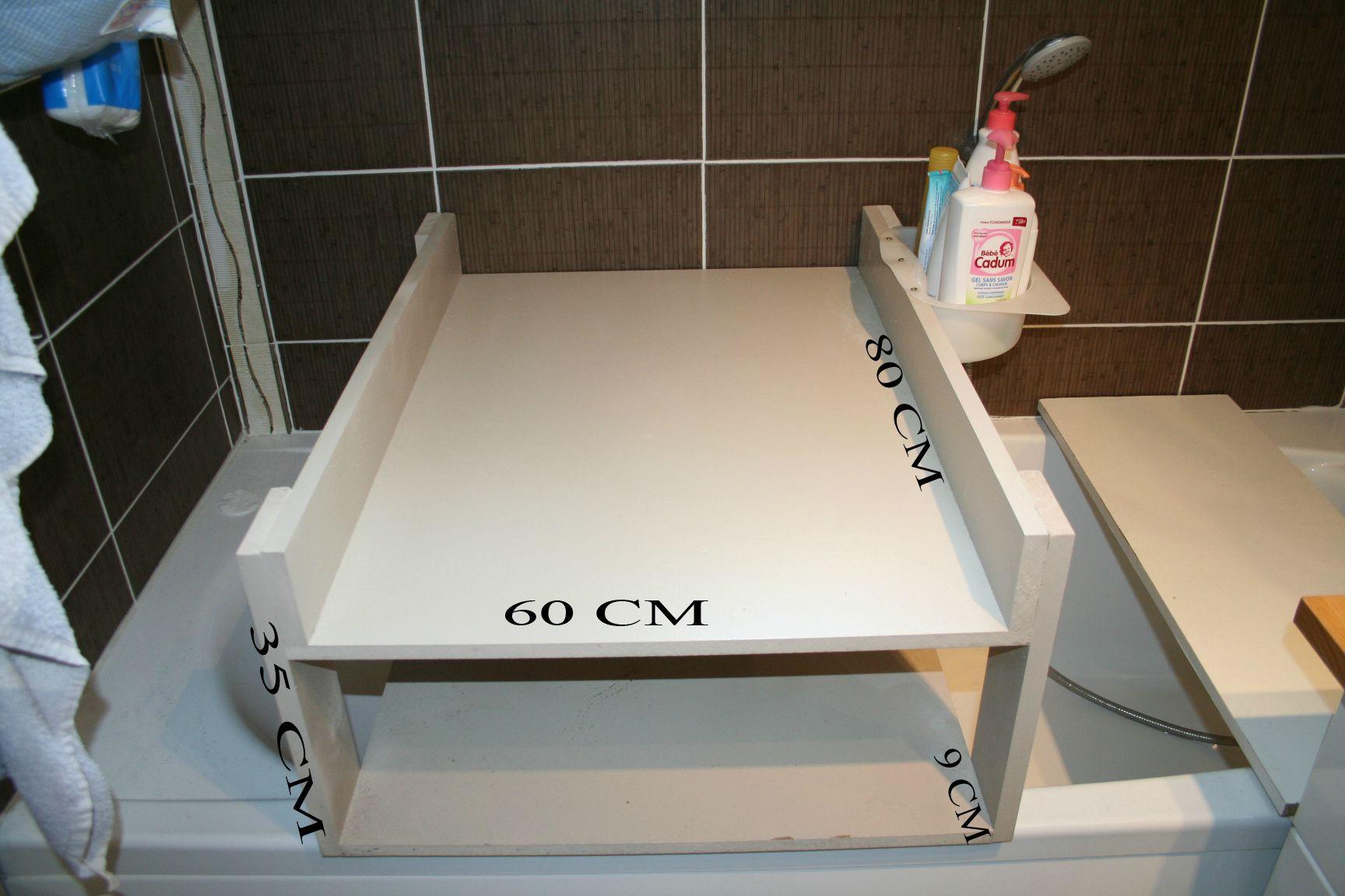 table a langer pour baignoire