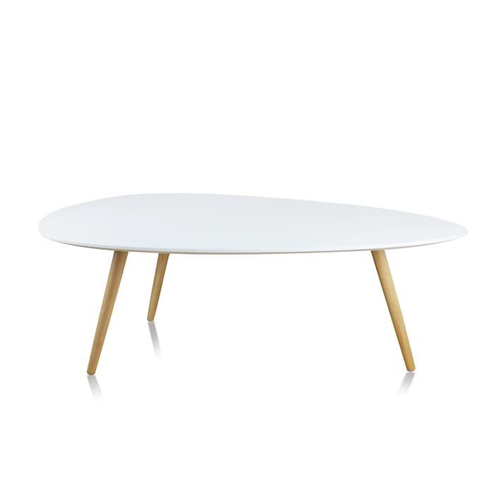 table basse bois ovale
