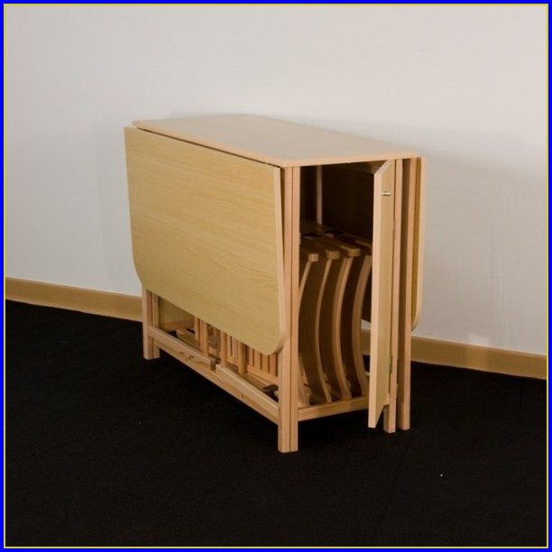 table cuisine pliante avec chaises integrees
