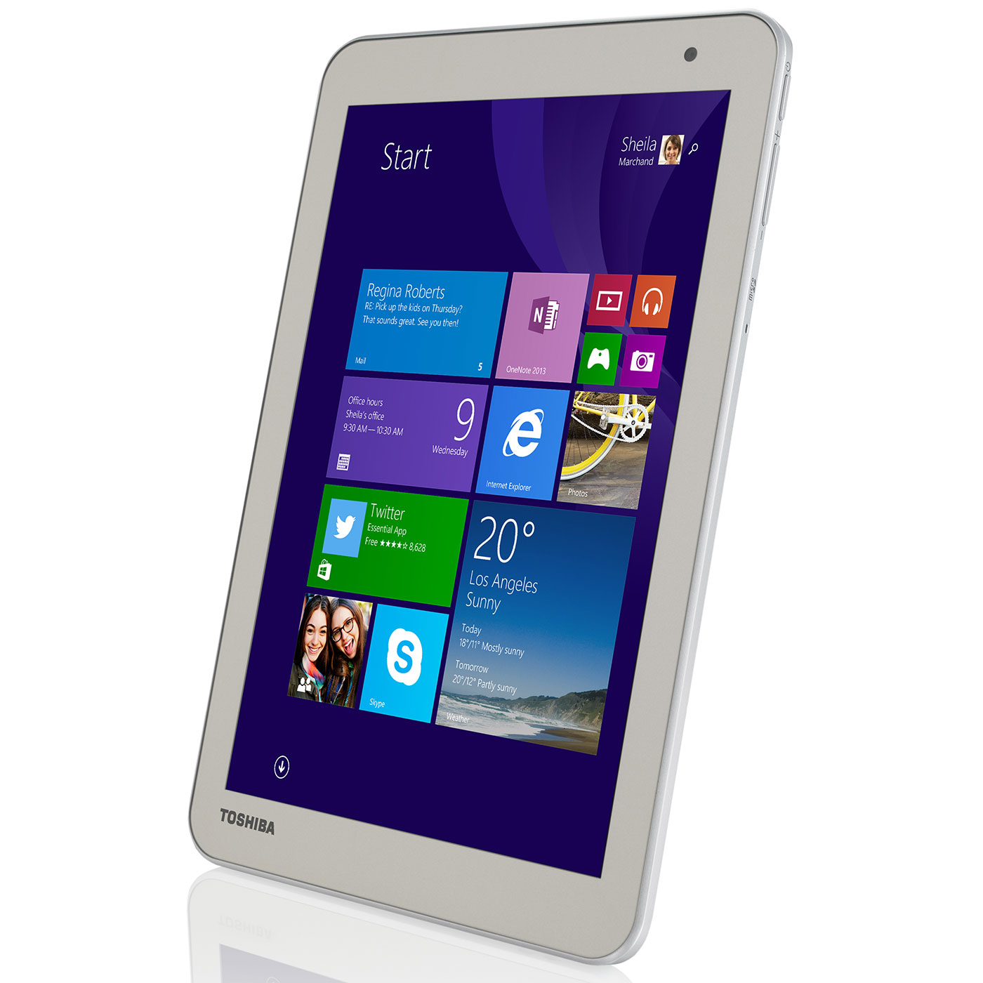 tablette tactile toshiba