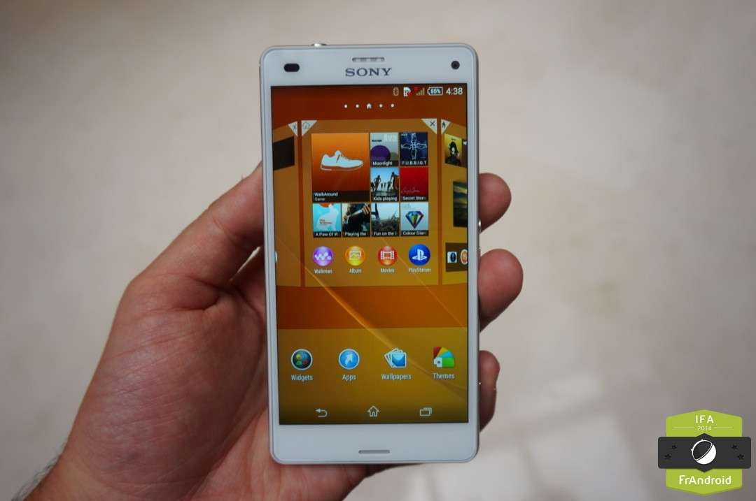 taille sony xperia z3 compact