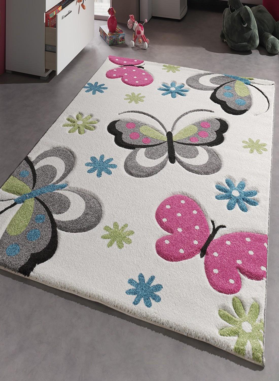 tapis papillon enfant