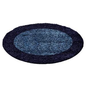 tapis rond bleu marine