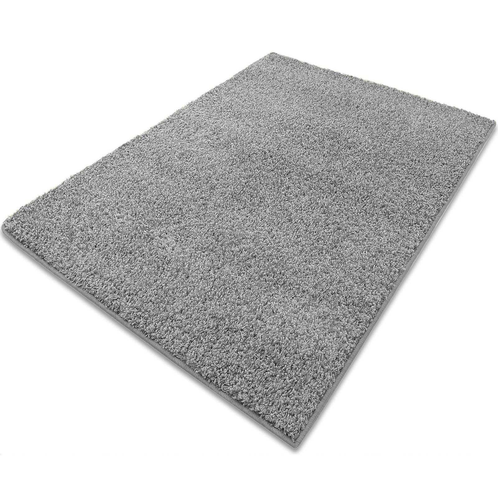 tapis shaggy gris