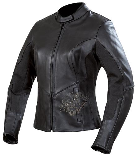 veste cuir femme moto